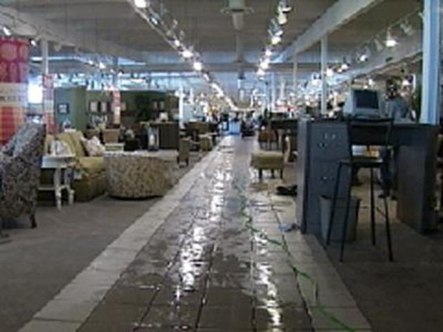 Storms Cause Extensive Flooding Inside Furniture Store