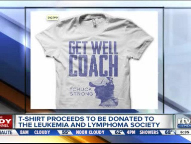 Indianapolis company fashions special get well coach t for Get company shirts made