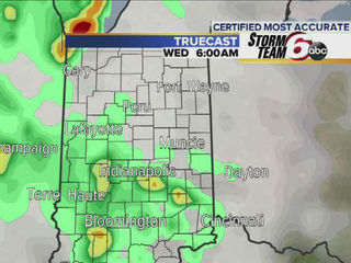 Ind. severe storm threat shifts south