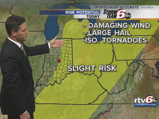 Slight risk of severe weather Wednesday