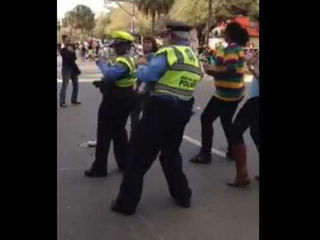 Cops really shake it in 'Wobble' at Mardi Gras