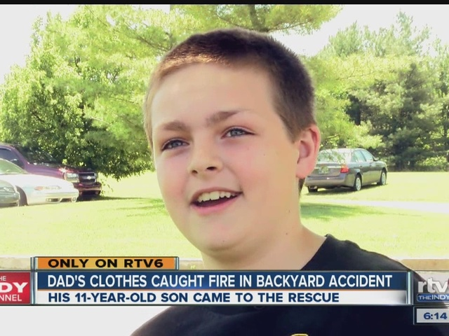 Dad Credits Son 11 For Coming To His Rescue Theindychannel Com Indianapolis In