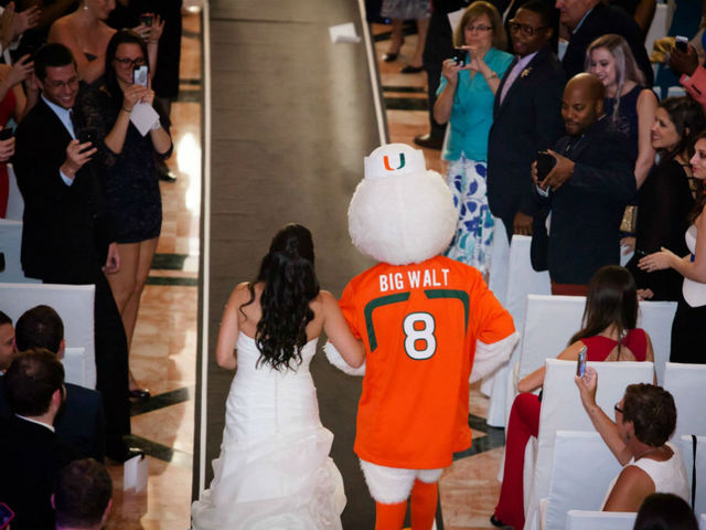 Hurricane mascot wedding