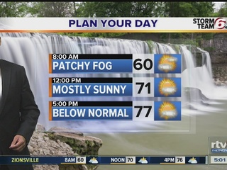 Mostly sunny and cooler Thursday forecast