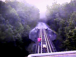 VIDEO: Women run over by passing train on bridge