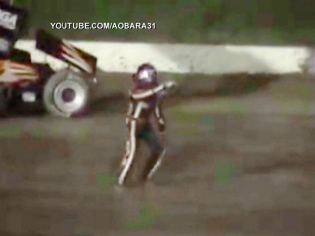 Tony Stewart Crash