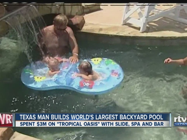Watch Texas Man Puts 3 Million Into World 39 S Biggest Backyard Swimming Pool Theindychannel