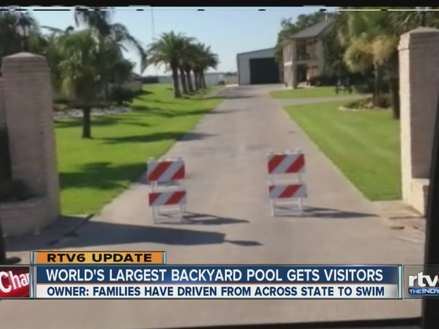 VIDEO Update Texas family with worlds largest backyard pool gets