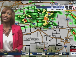 Muggy evening with chance of isolated storms