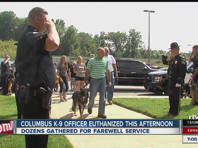 Columbus police say goodbye to beloved K 9 officer India