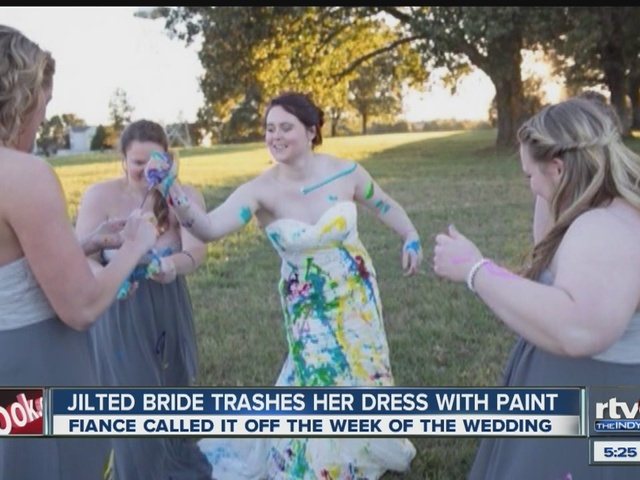Watch jilted bride finds catharsis in wedding gown 39 s for Wedding dress alterations indianapolis