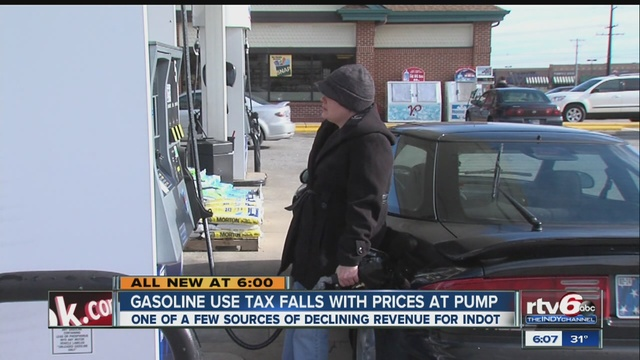 Falling gas prices bad for Indiana roads TheIndyChannel