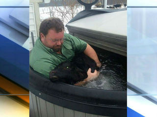 Indiana farmer uses hot tub to save baby cow