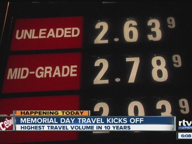 Lower gas prices hasten Memorial Day travel