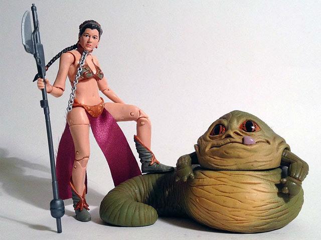 WATCH Parents upset over Princess Leia slave action .  sc 1 st  Superstarfloraluk.com & Images of Jabba The Hutt Princess Leia Costume - #SpaceHero