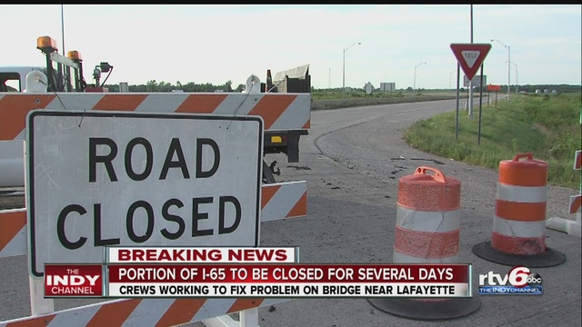 Nb i 65 reopens after unusual bridge movement theindychannel com