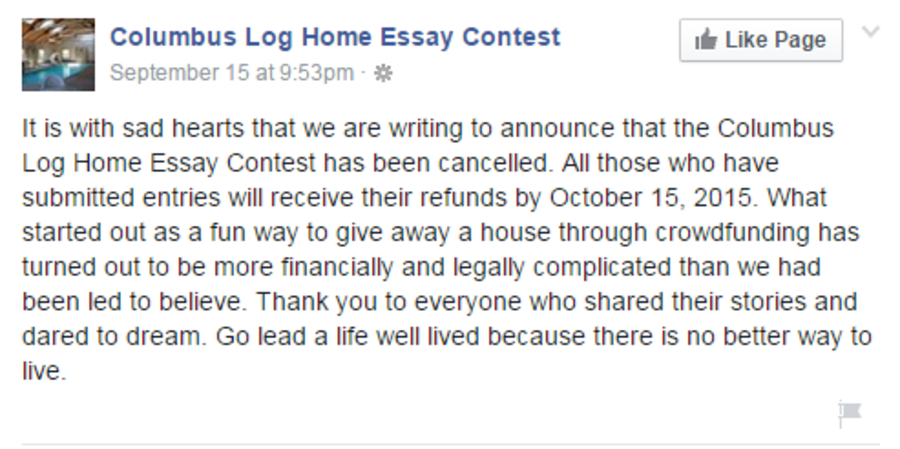 home essay contests