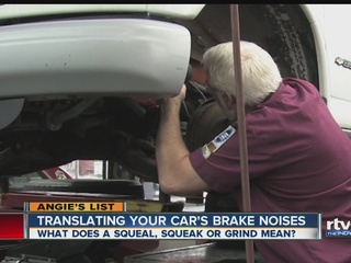 Angie's List: Translating your car's brake noise