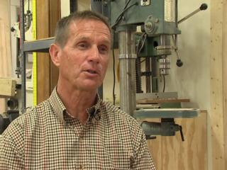Man teaches furniture crafting, life building