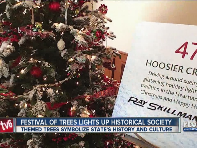 Festival of trees lights up indiana historical society for Christmas tree lighting indianapolis 2015