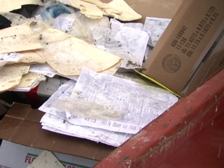 Call 6: Tax forms found in dumpster, on ground