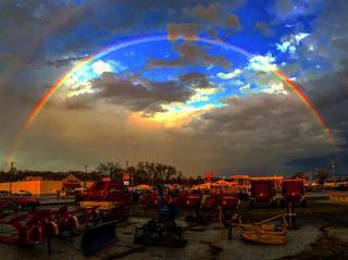 PHOTOS: Hail and rainbows
