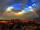 PHOTOS: Hail and rainbows from storms