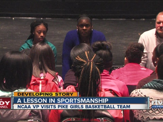 NCAA VP talks to Pike girls basketball team about Ben Davis brawl