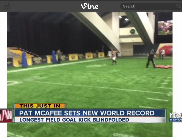Pat McAfee sets new world record