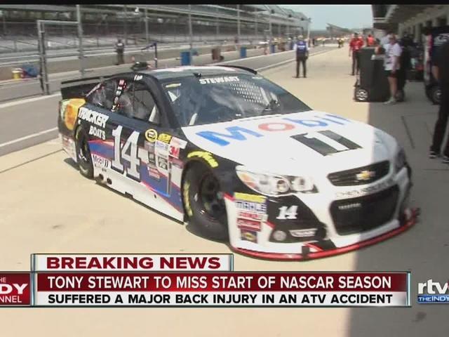 Tony Stewart fractures back, will miss start of final NASCAR season