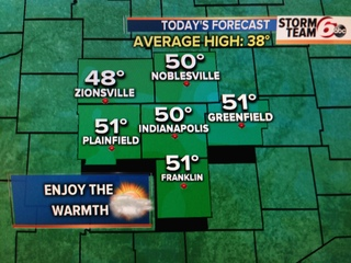 Mild today, cold and snow return tomorrow