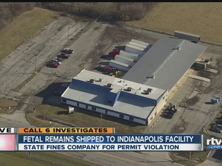 Aborted fetuses wrongly shipped to Indiana