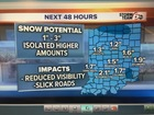 Snow Showers: Quick changes to visibility/roads
