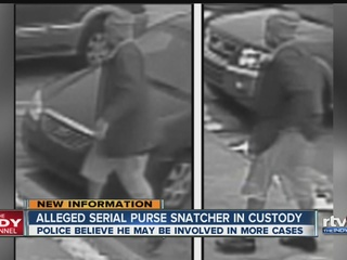 Serial purse snatcher under arrest