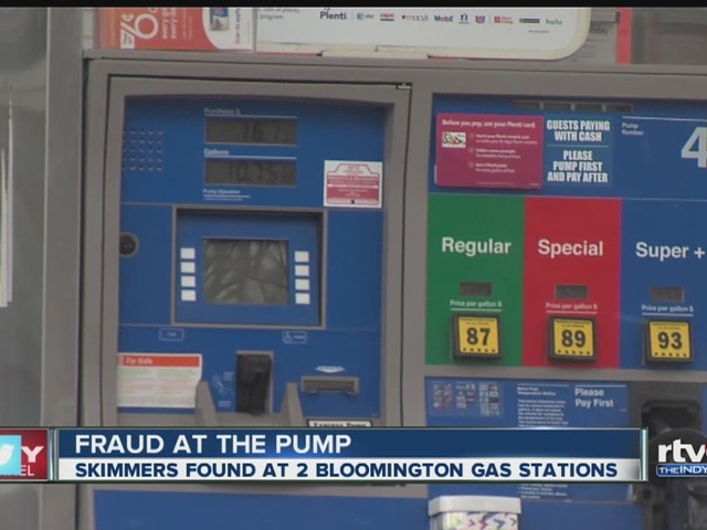 Credit card skimmers placed in gas pumps in Bloomington
