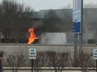 Box truck catches fire on WB I-465