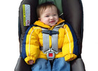 Warning about puffy coats on kids in car seats