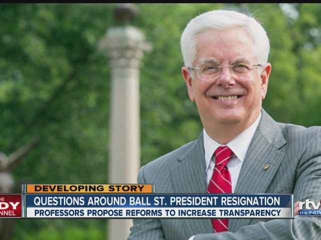 Faculty, students continue to question Ball State president's resignation