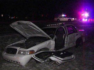 IMPD officer hospitalized after T-bone crash