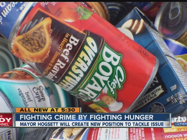 Mayor creates new position to help fight crime by fighting hunger
