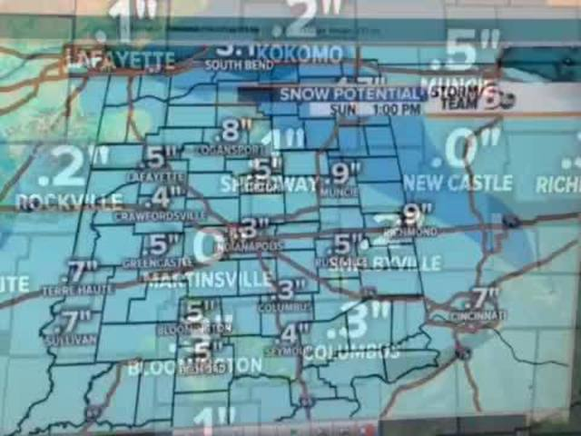 Biggest snow of the season could come Monday