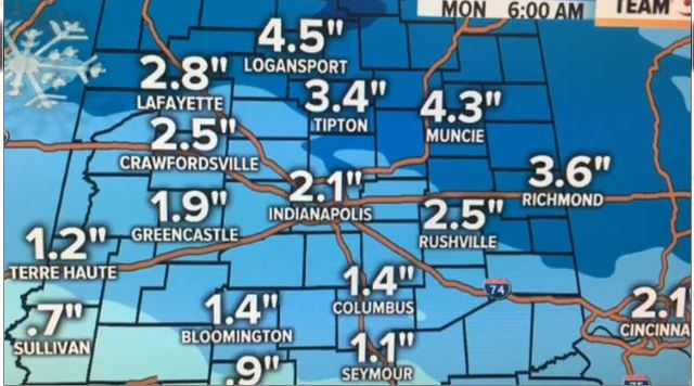 Biggest snow of the year possible Monday