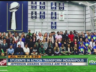 Students bring service projects to Lucas Oil
