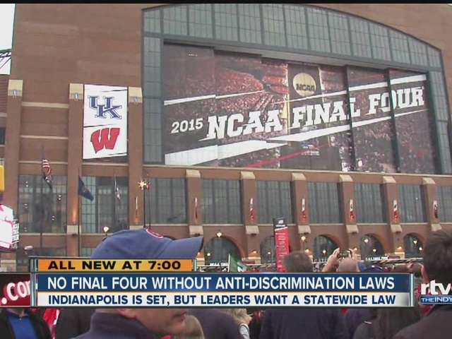 NCAA says no Final Four without anti-discrimination laws