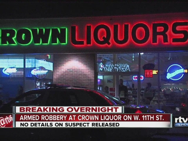 Armed robbery reported at Crown Liquors near IUPUI