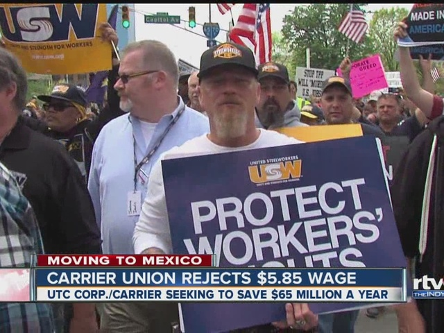 Carrier workers reject $5.85 wage offer