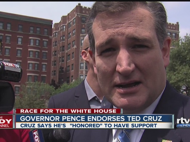 Gov. Mike Pence endorses Sen. Ted Cruz