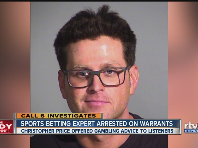 Sports betting expert arrested on warrants