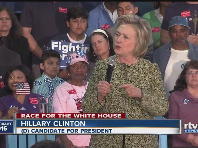 Hillary Clinton campaigns in Indianapolis