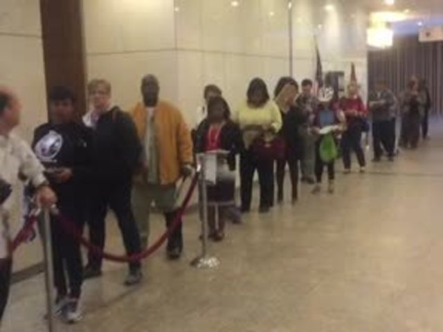 Early voting showing growth in turnout
